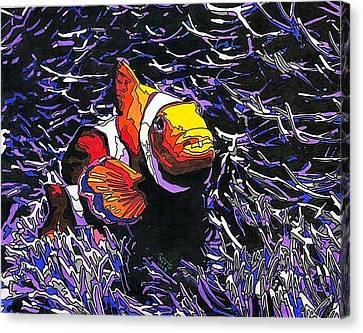 Ocean Clown Canvas Print by Eric North