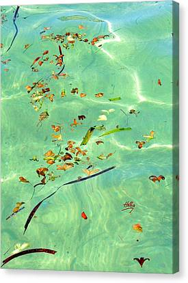 Ocean Flowers Canvas Print