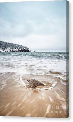 Ocean Flows Canvas Print by Evelina Kremsdorf