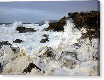 Ocean Foam Canvas Print by Carlos Caetano