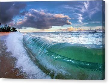 Surrealistic Canvas Print - Ocean Fold by Sean Davey