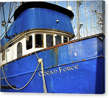 Ocean Force Canvas Print by Thomas J Rhodes