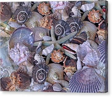Ocean Gems 11 Canvas Print by Lynda Lehmann