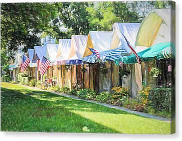 Ocean Grove Tents Sketch Canvas Print