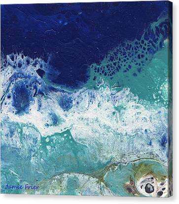 Canvas Print featuring the painting Ocean by Jamie Frier