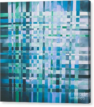 Canvas Print featuring the mixed media Ocean by Jan Bickerton