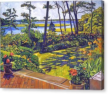 Ocean Lagoon Garden Canvas Print by David Lloyd Glover