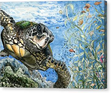 Ocean Life By Erin Choi 8th Grade Canvas Print by California Coastal Commission