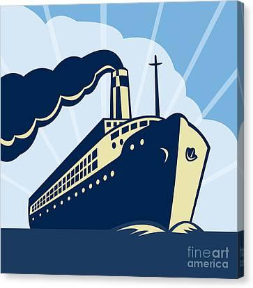 Ocean Liner Boat Canvas Print