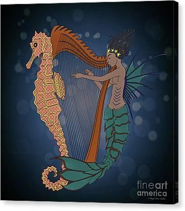 Canvas Print featuring the digital art Ocean Lullaby1 by Megan Dirsa-DuBois