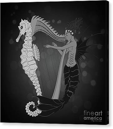 Canvas Print featuring the digital art Ocean Lullaby2 by Megan Dirsa-DuBois