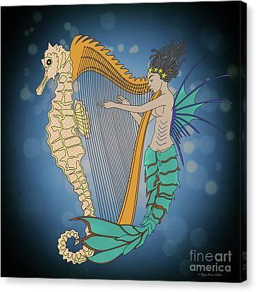 Canvas Print featuring the digital art Ocean Lullaby3 by Megan Dirsa-DuBois