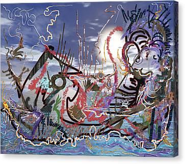 Ocean Canvas Print by Marko Mitic