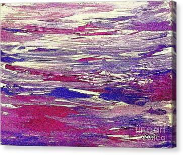 Ocean Motion Canvas Print by Marsha Heiken