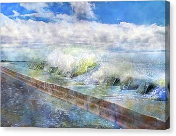 When Waves Tumble Canvas Print by Betsy Knapp