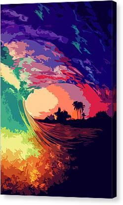 Ocean Of Colors  Canvas Print