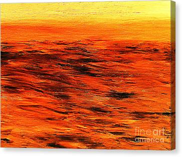 Ocean Of Weathered Thoughts Canvas Print by Rick Maxwell
