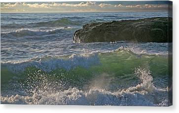 Canvas Print featuring the photograph Crashing Waves by Elvira Butler