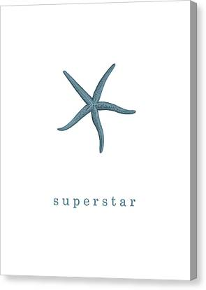 Ocean Quotes Superstar Canvas Print
