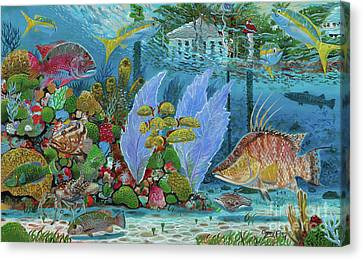 Ocean Reef Paradise Canvas Print by Carey Chen