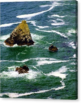 Ocean Rock Canvas Print by Marty Koch