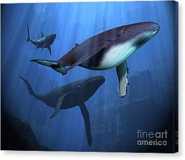 Ocean Ruins Canvas Print by Corey Ford