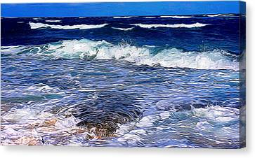 Ocean Scene In Abstract 14 Canvas Print