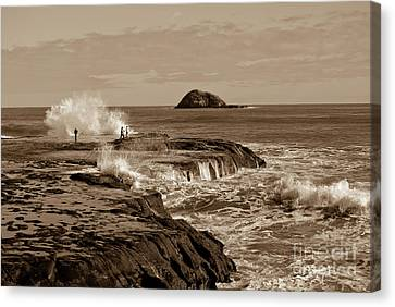 Canvas Print featuring the photograph Ocean Splash by Yurix Sardinelly