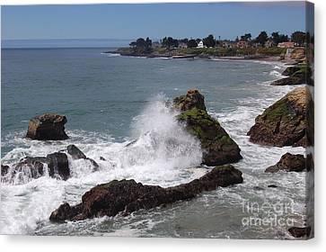 Ocean Spray West Cliff Canvas Print