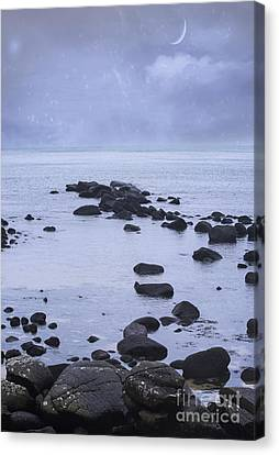 Ocean Stones Canvas Print by Juli Scalzi