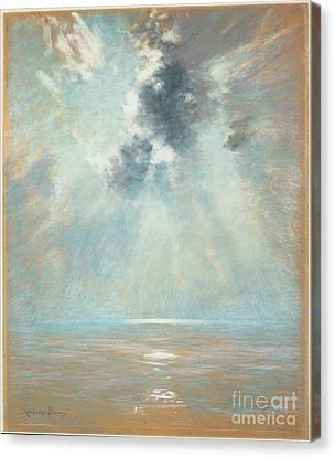 Ocean Sunrise Canvas Print by MotionAge Designs