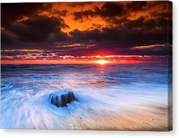 Ocean Sunrise March 30 2017 Canvas Print by Dapixara Art