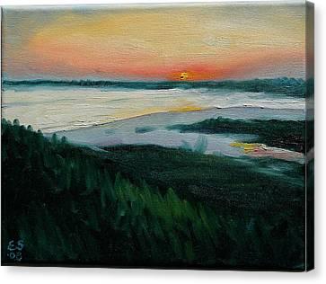Ocean Sunset No.1 Canvas Print by Erik Schutzman