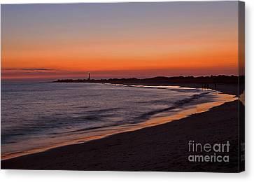 Ocean Sunset Canvas Print by Robert Pilkington
