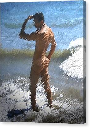 Ocean Thoughts Canvas Print by Kurt Van Wagner
