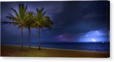 Ocean Thunderstorm Canvas Print by Mark Andrew Thomas
