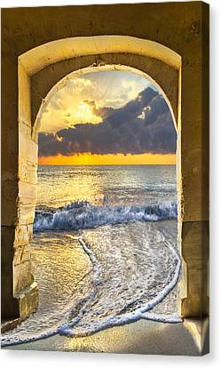 Ocean View Canvas Print by Debra and Dave Vanderlaan