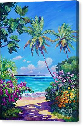 Ocean View With Breadfruit Tree Canvas Print by John Clark