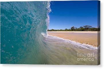 Ocean Wave Barrel Canvas Print by Dustin K Ryan
