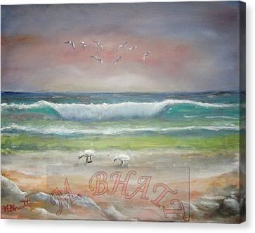 Ocean Wave Canvas Print by M Bhatt