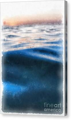 Canvas Print featuring the painting Ocean Waves by Edward Fielding