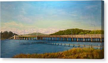 Oceanic Bridge Canvas Print