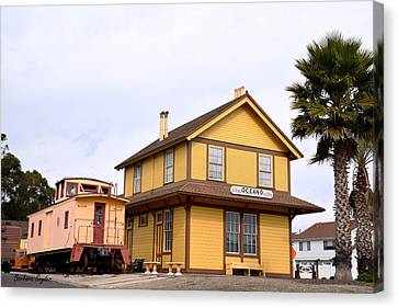Oceano Depot Museum Canvas Print by Barbara Snyder