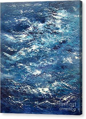 Ocean's Blue Canvas Print by Valerie Travers