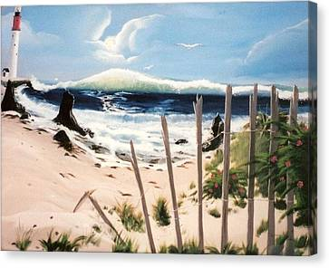 Canvas Print featuring the painting Oceans Breez by Susan Roberts