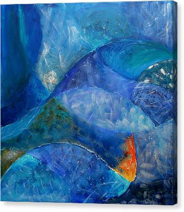 Blue Abstracts Canvas Print - Ocean's Lullaby by Aliza Souleyeva-Alexander