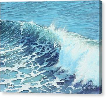 Ocean's Might Canvas Print by Joe Mandrick