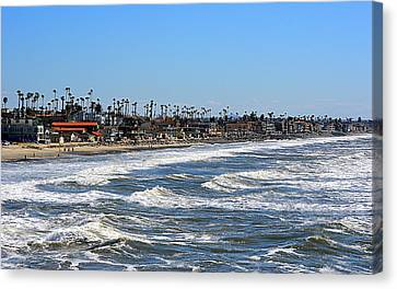 Canvas Print featuring the photograph Oceanside by AJ Schibig