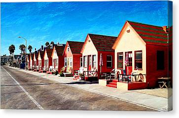 Oceanside Beach Cottages Canvas Print by Glenn McCarthy Art and Photography