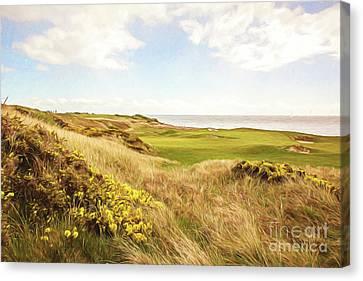 Oceanside Green Canvas Print